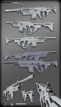 a professional layout for the different views of the gun. Showing that it should look good from all angles, not just where it is going to be presented.