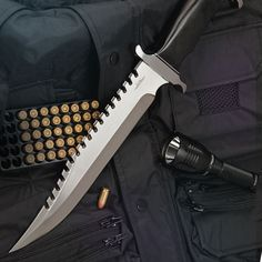 Gil Hibben Extreme Survival Bowie Knife. Better than a gun in every way if survival is the goal!