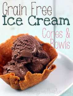 Making your own waffle cones and waffle cone serving bowls is actually quite simple. This recipe is grain free, and is loved by the entire family! My son loves them, and loves helping me make them. He thinks it's amazing that we can make them ourselves.