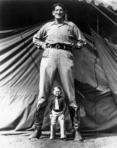 H.A. Atwell, [Untitled, Circus Performers, Giant and Midget], 1920-30s