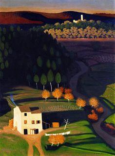 Felix Vallotton (Swiss 1865-1925) First Rays (1921)