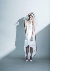 Round slip dress …シルクシフォンジョーゼットの程良い落ち感が美しいスリップドレス。 裾にはクリスタル加工のプリーツを施し、前から後に流れるカッティングがより際立つ。  mutin ▽contact EM:  info@mutin.jp HP:  www.mutin.jp  #mutin #wedding #weddingdress #dres#bridal #fashion #tokyo #coordinate #pleat #ウエディング #ウエディングドレス #ブライダル #ミュティン