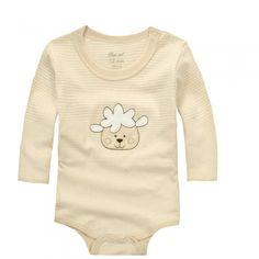 Organic Cotton Baby Bodysuit,Sheep Long Sleeve Onesies,3-24 Months