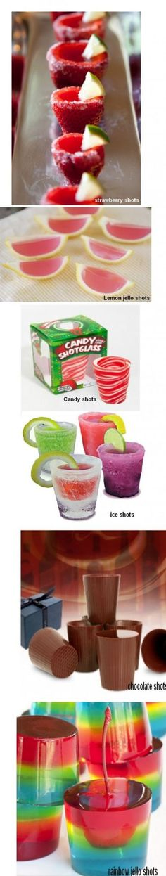 Yes please to all of the above.  Especially like the strawberry shots!
