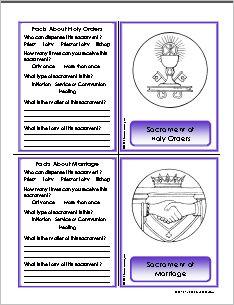 Free printable - Sacraments of the Church flashcards