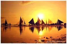 Sailing boat sunsets