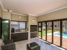 Built in braai with stacking doors outside room, patio doors, outdoor living rooms, Decor, Built In Braai, Home, House, Indoor, Outdoor Living Rooms, Room, Room Decor, Stacking Doors