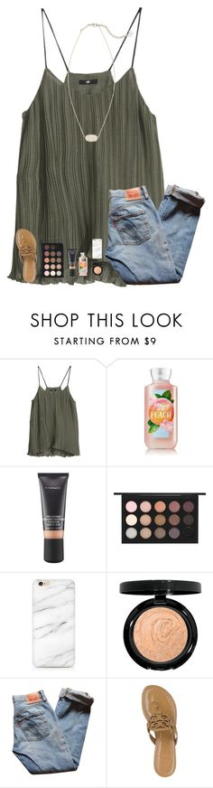 """""""love this"""" by southern-belle606 ❤ liked on Polyvore featuring H&M, MAC Cosmetics, Levi's, Tory Burch and Kendra Scott"""