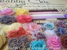 DIY Baby Headband Supply Kit  As Pictured  by ShabbyFlowerBowtique, $49.49