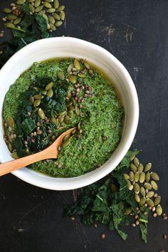 Tuscan Kale, Hemp and Pumpkin Seed Pesto