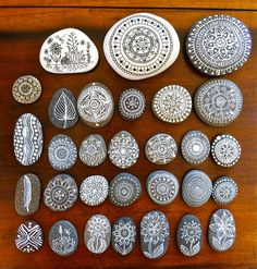 These are some of the pebbles I took with me to give as presents to special people I visited on my vacation. ...and some are available here