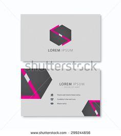 Hexagon vector logo business card. Vector template. Creative icon. Technology, business, science theme etc. - stock vector