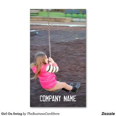 Girl On Swing Standard Business Card