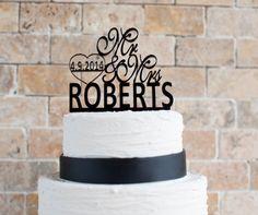 Wedding Cake Topper 6' by VVDesignsShop2 on Etsy