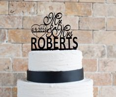 Wedding Cake Topper 6' length by VVDesignsShop2 on Etsy