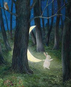 Art And Illustration, Pretty Art, Cute Art, Arte Peculiar, Rabbit Art, Bunny Art, Fairytale Art, Wow Art, Whimsical Art