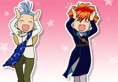 Tasuki and Chichiri dancing #FushigiYuugi