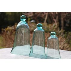 PAILLAGE - VOILE Cloches en verre pm (par 3)