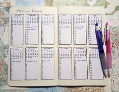 Bullet Journal Future Planning Sticker Sheets
