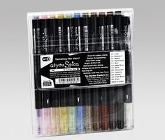 AtYouSpica zestaw Marker Glitter Pen - Markery COPIC