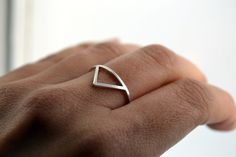Montagne silver ring. €45,00, via Etsy.