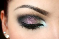 TBN's Steal the Night, Belladonna, Iced Teal and Blackened Violet eye shadows. Make-up, model and photo courtesy of Lynneth M.  https://www.facebook.com/pages/MakeupArtistMe/175339565901767