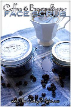 Coffee and Brown Sugar Scrub DIY & Free Printables - The Cottage Market
