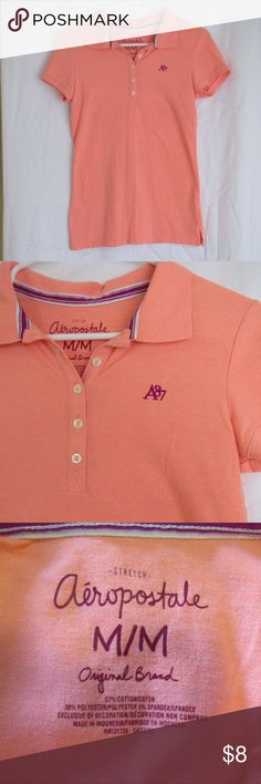 Coral/Orange Polo Collared Shirt Coral polo shirt. In great condition and perfect for uniforms and golfing! Smoke and pet free! (I have a few more colors listed on my account if interested) Aeropostale Tops