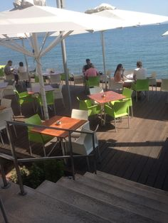 The coziest - nearest place to admire your September sea view: H2O Restaurant, @kosaktis.