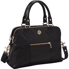 In love with this bag... Piazza Olivia Satchel - Black - via eBags.com!