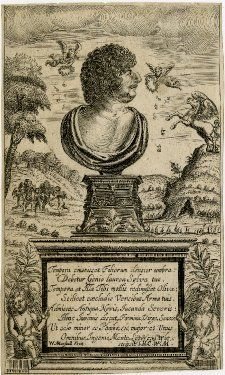 Robert Herrick, portrait from Hesperides or, The Works Both Humane and Divine of Robert Herrick, Shakespeare Portrait, First Folio, Title Page, Book Publishing, 19th Century, Author, Statue, Pictures, Art