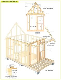 Free Wood Cabin Plans - Free step by step shed plans Tiny Cabins, Cabins And Cottages, Design Despace, Studio Design, Free Shed Plans, Build A Playhouse, Guest Cabin, Cabin In The Woods, Diy Shed