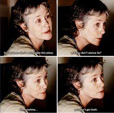 """""""Oh sunshine..."""" Carol - TWD S5E16 """"Conquer"""" <3'd this! Carol is BADASS!"""