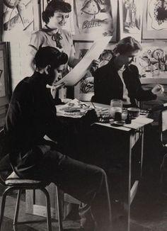 "1952 art class at ""Provi"" yearbook of Proviso East high school in Maywood, Illinois.  #ProvisoEast #Maywood #Provi #yearbook #1952"