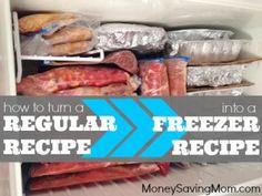 How To Turn a Regular Recipe into a Freezer Recipe