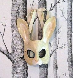 Rabbit Leather Mask Child