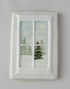 Winterwindow Jls: also frame brown & diff scenes - snowman, lights outside top frame & on tree, etc