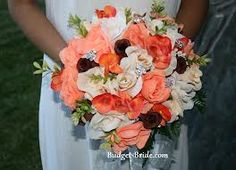 Image result for brown peach and ivory wedding