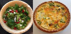 Veggie Quiche - Veggies, eggs, cheese, and few spices make this an easy go-to weeknight meal.