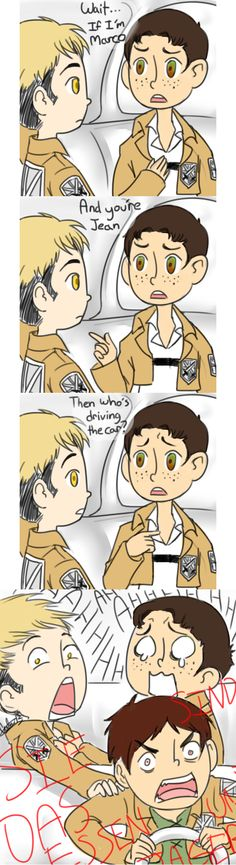 Then who is driving? by uberchicken   Don't ever let Eren drive