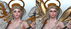 ART WAR | 3D | Ophelia, the Winged Guardian | Alena Dubrovina - Art Challenges / ART WAR 3D - Forums - Cubebrush