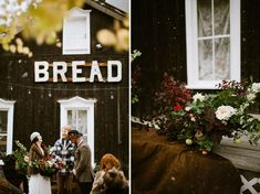 Colorado Ghost Town wedding - Silver Plum Fall / winter wedding flowers Ceremony Decor Venue   Bread Bar Photography   Our Love Is Loud Flowers   Lale Florals Style   Laurel + Rose