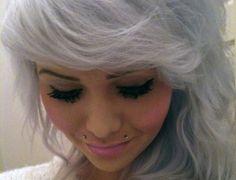 Angel Bites Piercing, Jewelry Tattoo, Coloured Hair, Body Piercings, Scene Hair, Mermaid Hair, Silver Hair, Pretty Hairstyles, Black Hair