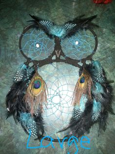 Large 3-Ring Owl Dream Catcher by KeepTheDream on Etsy