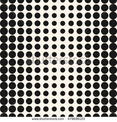 Vector half tone circles seamless pattern. Halftone dots abstract monochrome background. Gradient transition effect. Simple modern dotted texture with different sized spots. Stylish design for decor