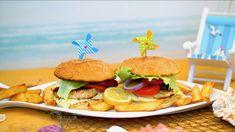 Nejlepší rybí (karbanátky) burger na grilu s domácí tatarskou omáčkou Grilling Recipes, Hamburger, Chicken, Ethnic Recipes, Food, Youtube, Eten, Hamburgers, Baking Recipes