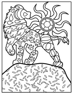 Adult Coloring Book Page, Beautiful Animal, Lion :)
