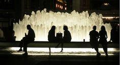 Een zomerse avond bij de Lincoln Center Fountain