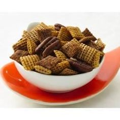 Butter, brown sugar and spice make a sweet and crunchy cereal mix.