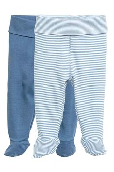 08e2eae417fe7f 2-pack leggings with feet: CONSCIOUS. Leggings in soft organic cotton  jersey with